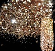 cheap -10g Pure Champagne Glitter Nail Art Tool DIY Glitter Mix Size Acrylic Powder Pentagon Sequins Sheet Nail Supplies Decoration