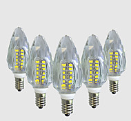 Недорогие -4 Вт. 450-500 lm E14 LED лампы в форме свечи C35 40 светодиоды SMD 2835 Тёплый белый Белый AC 220V