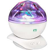 cheap -YWXLIGHT® Rotation Sleep Soothing Color Changing Aurora Night Light Projector with Build-in Speaker Relaxing Light Show Mood Light for Baby Nursery