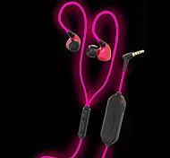 Jiefangzhe q10 светится в темных наушниках блестящей и яркой версии с микрофоном