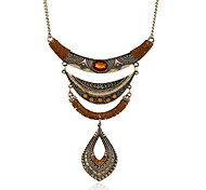 Women's Choker Necklaces Pendant Necklaces Statement Necklaces Metal Alloy Resin Rhinestone Alloy Tassels Bohemian Personalized