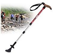 4 Trekking Poles Nordic Walking Poles Multifunction Walking Poles Trekking Pole Accessories 110cm (43 Inches)Damping Adjustable Length