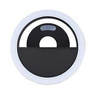 Andoer Portable Mini Clip-on Fill-in 36 LED Selfie Ring Light Lamp Night Using Supplementary Lighting 3 Modes w/ Built-in Battery USB Rechargeble