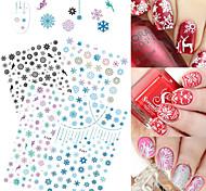 4 Nagel-Kunst-Aufkleber Muster Weihnachten Bastelmaterial Aufkleber Make-up kosmetische Nagelkunst Design