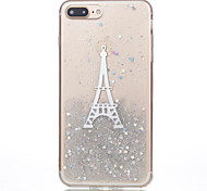 For Apple iPhone 7 Plus 7 Phone Case TPU Material Dijiao Tower Flash Powder Phone Case 6s Plus 6Plus 6S 6