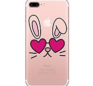 Caso per la mela iphone 7 7 più copertina case animali cartone animato dipinto ad alta penetrazione tpu materiale morbido caso telefono