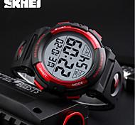 Недорогие -SKMEI Муж. электронные часы Спортивные часы Японский Цифровой Календарь Секундомер Защита от влаги Фосфоресцирующий PU Группа Cool Черный
