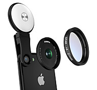 Mobile Phone Lens Lens with Filter Macro Lens Aluminium Alloy 10X and above 37 0.02 Lens with LED Light