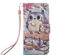 Case For Apple ipod touch 5 touch 6 Case Cover Card Holder Wallet with Stand Flip Pattern Full Body Case Owl Hard PU Leather