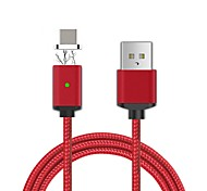 Cwxuan®  USB 3.1 Type C Detachable Magnetic Braided Charging Data Cable (100cm)