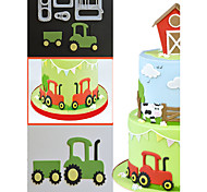 4pcs small farm tractors fondant cake decoration cookie mold die cut printing Inventory for pastry chef