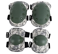 4pcs Tactical ACU Camo Knee Pad Elbow Pad Safety Pad Elbow Knee Protective Gear Safeguard Durable Comfortable for Outdoor Sports
