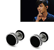 cheap -Men's Stud Earrings - Black For Party / Office / Career / Dailywear
