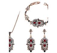 Жен. Браслет цельное кольцо Серьги-слезки Ожерелья с подвесками Синтетический алмаз Винтаж Pоскошные ювелирные изделия Массивные