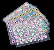 30 Sheet Flower Sticker Decal Nail Art Decoration Fashion Colorful Stickers Top Quality