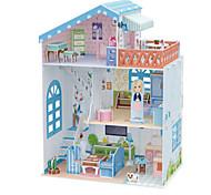 Doll 3D Puzzles Jigsaw Puzzle Dollhouse Paper Model Toys Famous buildings Architecture 3D DIY Kids Unisex Pieces
