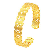 Men's Women's Cuff Bracelet Fashion Vintage Personalized Luxury Gold Plated Round Music Notes Jewelry For Party Birthday Gift Daily Beach