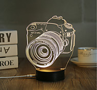 1 Set, Popular Home Acrylic 3D Night Light LED Table Lamp USB Mood Lamp Gifts, Camera