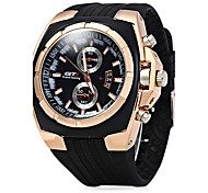 Men's Fashion Watch Sport Watch Dress Watch Chinese Quartz Rubber Band Casual Cool Black