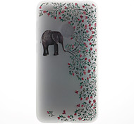 Case For Huawei P8 Lite (2017) P10 Case Cover Elephant Pattern 3D Relief Milk TPU Material Phone Case For Huawei P10 Lite P10 Plus