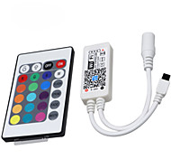 HKV® 1Pcs LED Lights With WiFi Controller RGB 24 Key Intelligent Controller Mobile Phone Remote Control DC 5-28V