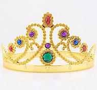 Недорогие -Хэллоуин Рождество король королевы украшение драгоценный камень головной убор косплей карнавал маскарад костюм партии