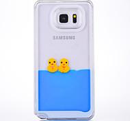 Fall für Samsung Galaxy Anmerkung 2 Anmerkung 3 Fallabdeckungsglocken Ente Muster pc Material quicksand Telefonkasten für Samsung