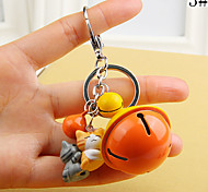 Bag Phone Keychain Charm Jingle Bell Cartoon Toy Phone Strap(bell Color Random)