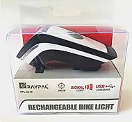 Передняя фара для велосипеда Светодиодная лампа LED Велоспорт На открытом воздухе Подсветка Люмен USB Естественный белый Повседневное