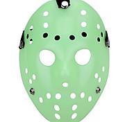 Недорогие -Хэллоуин пористый Джейсон убийца маска светящийся зеленый ужас хоккей косплей карнавал маскарад вечеринка костюм костюм