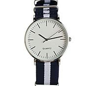 cheap -Men's Quartz Wrist Watch Fashion Watch Japanese / Nylon Band Casual Elegant Navy