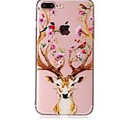 Чехол для Apple iphone 7 7 плюс чехол покрытие олень голова узор чувствовать лак рельеф высокий уровень проникновения тпу материал телефон