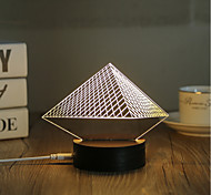 cheap -1 Set, Popular Home Acrylic 3D Night Light LED Table Lamp USB Mood Lamp Gifts, Pyramid