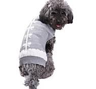 Кошка Собака Плащи Свитера Одежда для собак Для вечеринки На каждый день Косплей Сохраняет тепло Свадьба Новый год Рождество Бант Серый