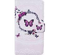 Étui pour Apple iphone 7 plus 7 sacoche porte-carte porte-monnaie avec étui avec étui plein corps avec stylet papillon pu cuir 6s plus 6s