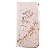 cheap -Handmade Diamond Angel PU Leather Full Body Case with Kickstand for Samsung Galaxy S3/S4/S5/S5 miniS6/S6 Edge