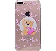 Para la caja del teléfono del iphone 7 7plus de la manzana caso material del tpu del oso de la mariposa pintó la caja 6s del teléfono más