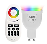cheap -5W GU10 LED Smart Bulbs A60(A19) 12 leds SMD 5730 Infrared Sensor WIFI APP Control Light Control Dimmable Remote-Controlled RGB+Warm 500