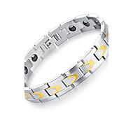 preiswerte -Herrn Edelstahl Armreife - Modisch Gothic Rock Kreisförmig Weiß Armbänder Für Party Geburtstag Geschenk