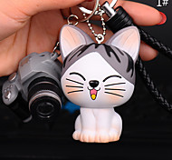 Сумка / телефон / брелок шармы кошка камера мультфильм игрушка телефон ремешок ПВХ