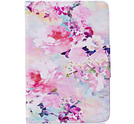 Case For Ipad Mini 1 2 3 Mini 4 Case Cover Flower Pattern PU Material Triple Tablet PC Case Phone Case