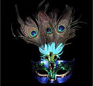 1шт небольшая шляпа волос группа для Хэллоуина костюм участник плоский золотой серебристый маскарад маска перо картина маску сторона