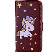 Case For Samsung Galaxy A3 (2016) A5 (2016) Case Cover Unicorn Pattern PU Material With Strap Phone Case For Samsung A3 (2017) A5 (2017) A7 (2017)