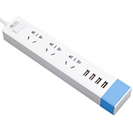Sw-050310 au plug phone usb chargeur power strips 150 cm 3 sorties 4 usb ports 10a ac 100v-250v