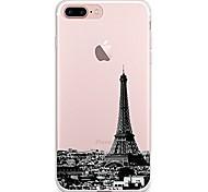 Недорогие -Чехол для iphone 7 6 eiffel tower tpu мягкая ультратонкая задняя крышка чехол iphone 7 плюс 6 6s плюс se 5s 5 5c 4s 4