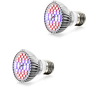 cheap -2pcs 7W 800-1200lm E14 GU10 E27 Growing Light Bulb 40 LED Beads SMD 5730 Warm White White Blue Red 85-265V