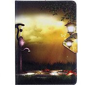 Case For Samsung Galaxy T280 T580 Case Cover Street Light Pattern PU Material Triple Tablet PC Case Phone Case