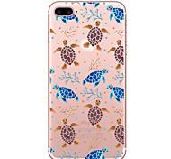 Недорогие -Случай для яблока iphone 7 7 плюс крышка крышки черепахи картина покрашенная высокая проницаемость материал tpu мягкий случай случай