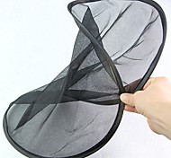 Escada protetora de sol da janela traseira dobrável preta dobrável em forma redonda dobrável (2pcs