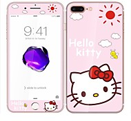 Screen Protector For iPhone 7 Plus Tempered Glass Explosion Proof Kitty Cartoon 3D Curved Edge Front & Back Protector Full Body Screen Protector